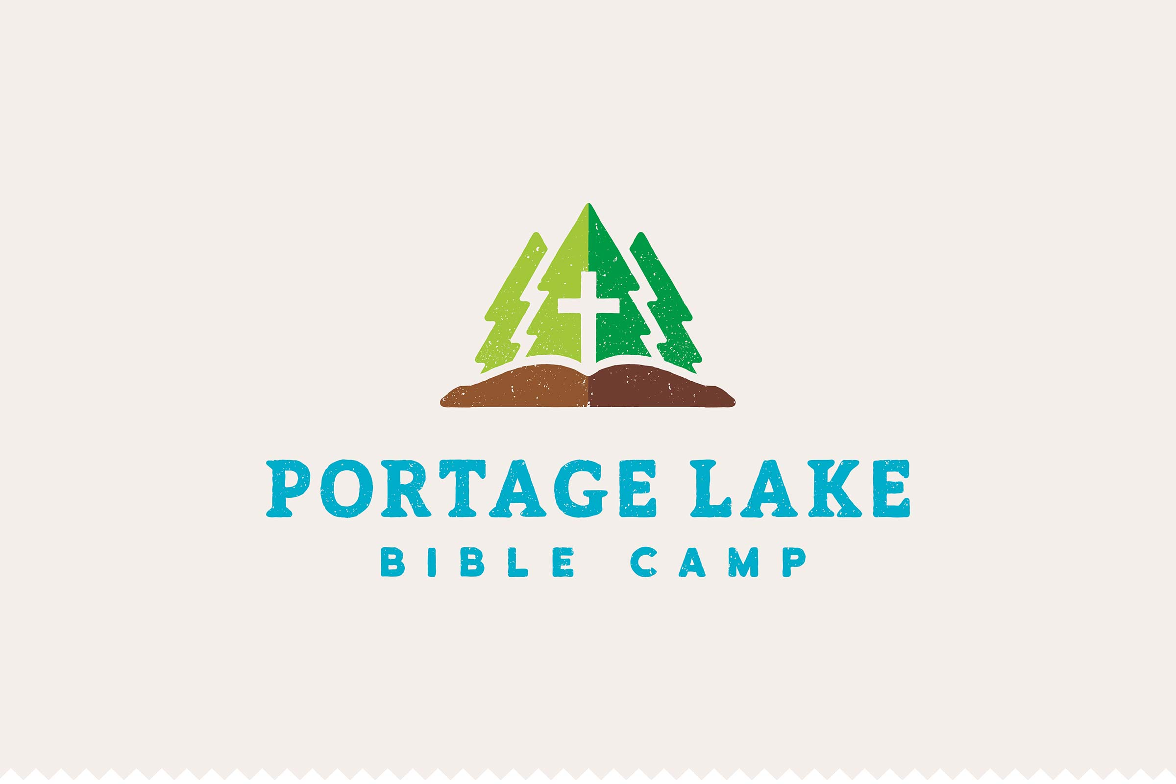 Portage lake bible camp malley design looking to make a connection between the symbolism of a previous camp logo characteristics of modern design and a fun outdoorsy feel portage lake bible buycottarizona Gallery