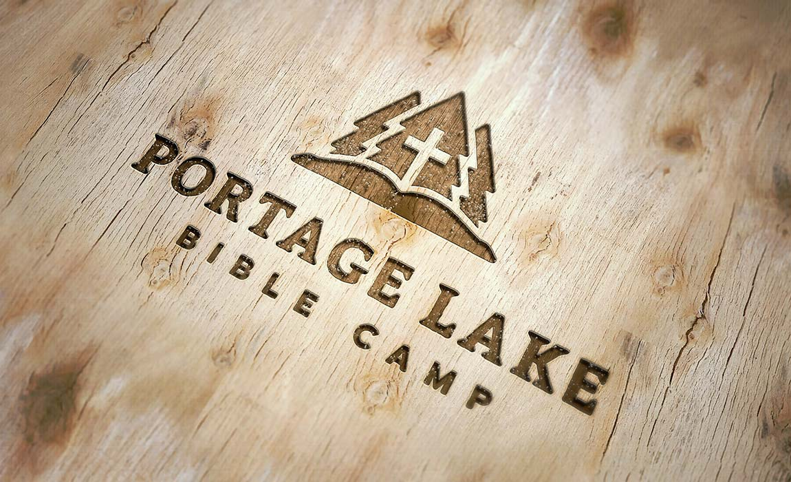 Portage lake bible camp malley design the new portage lake bible camp logo capitalizes on a past logo versions visual symbols of evergreen trees but with an updated simple style biocorpaavc Gallery
